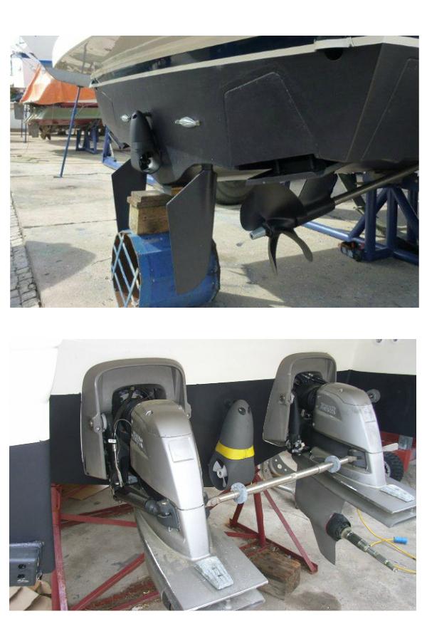 Examples of EX70C Thruster Installation